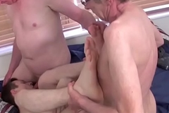 Blarney hungry European youngster loves a steamy threesome sex