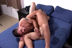 Military hunk acquires licked