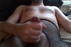 May142014  Sissy Cross Dresser Makes coupled with Eats Cummies
