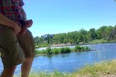 Quick Outdoor Wank off Bike Crest on a Hot Summer Day in Sacramento