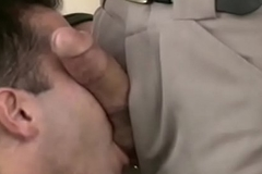 A bunch of manly studs suck each other'_s dick during happy-go-lucky orgy