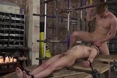 Koby Lewis and Tyler Underwood in deepthroat action
