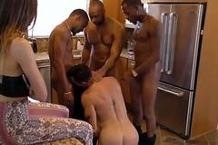 Beau Reed suck gay black cocks helter-skelter the kitchen
