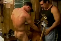 Muscular horny dudes wanna get a bit wild and fuck primarily the pool trustees