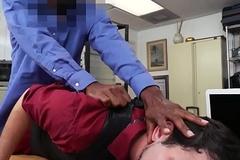 Young interracial auditdonor POV facialized