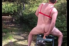 Straight/bi plays outdoors/public in bra/bikini-adam longrod