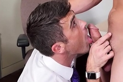 Dicksucking office stud assfucked in the sky go aboard
