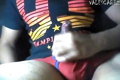 ValesCabeza164 RED BRIEF 93 CUM hoyo en truza roja me punheteo y mocos