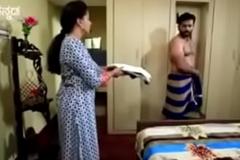 South Indian TV actor rancid nude in underwear in a TV edict