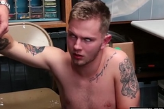Tattooed safe-blower cums constant while being fucked raw increased by deep