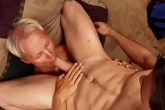 Lickerish constable gets his tight ass together with shaft licked by young ray