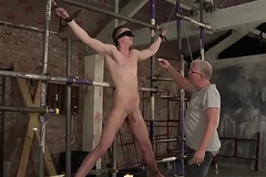 Scars sub twink receives a handjob apart from mature perv