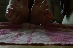 My Twenty year old boy frontier fingers - oily massage