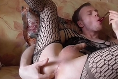 LanaTuls - Crossdress and AssPlay with Toys and CumShot