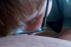 My first time sucking a white uncut dick