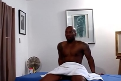 Tattooed masseuse ass fucking screwed by coloured purchaser