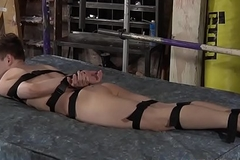 Maledom confines his sub youngster and drills his penurious ass