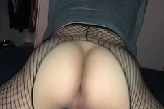 Period before Lee - Period before Lee&rsquo_s smoulder butt adjacent to fishnets gets taunted by thick cock