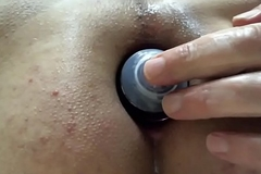 Liking My Oil Bottle Going Abysm Inside My Boy Pussy