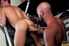 Gay stud rides cock servants'