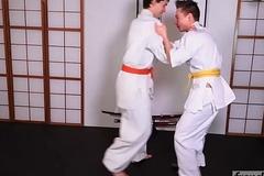Two juvenile judokas Enzo Lemercier &amp_ Timy Detours fucking on the tatami