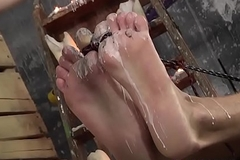 Feet wipe the floor with and footjob with hot and slutty gay jocks