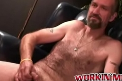 Horny adult carpenter Bryant making his cock cum hard