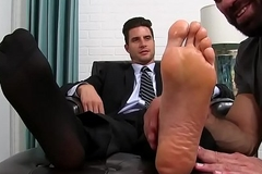 Classy jock give oblige enjoying is some scruffy feet sucking