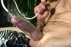Pumping big cock