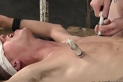 Sean Taylor drills his slave Tristan Crown doggy position