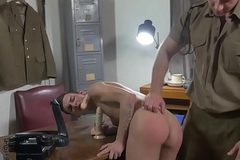 Contravening twink soldier acquires bareback orders from functionary