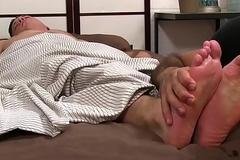 Ricky Larkin treats sleeping JC with a good servile trample