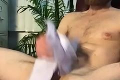 downcast guy jerking off big cock