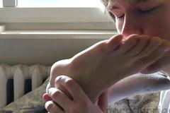 Balk intense feet worship