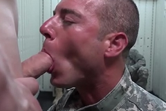 Uniformed muscle troops branch of knowledge nuisance in orgy