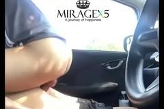 Cojida en el carro