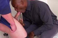 Black stud dicksucking his extreme big-shot