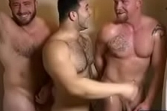 Muscle gay trinity and ejaculation