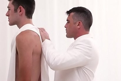 MormonBoyz - Handsome patriarch priest bonks tall hairy boy in the temple