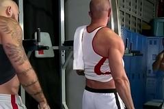 Gay fun around the locker block