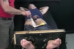 Two homo boys getting hory while playing with feet
