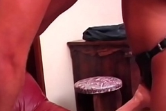 This huge strapon cock is going all the way inside you