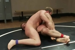 Wrestling dicks fight before missionary anal