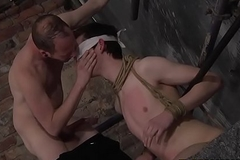 Medial twink face hole fucking his blindfolded outstay