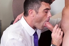 Swank stud assfucked in date threesome