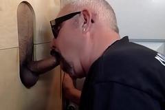 Horny Latin Man At the Gloryhole