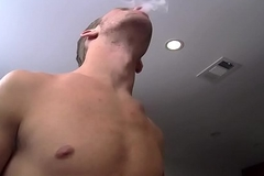 Sapphist Dustin Fitch bangs Jake Parker for ages c in depth taking a smoke