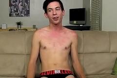 Daniel Ross gets interviewed before jerking missing his ramrod