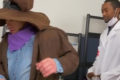 Office stud assfucked at halloween party