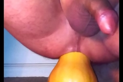 Driveway not susceptible pumpkin again with double cumshot